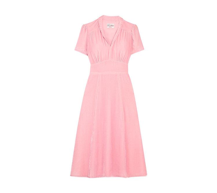 Pink Velvet Morgan 40s Dress — HVN
