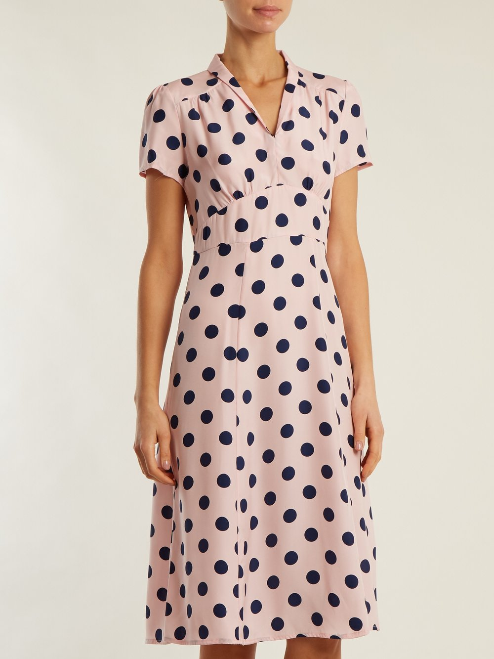 LARGE NAVY & PINK POLKA DOTS - SHOP NOW