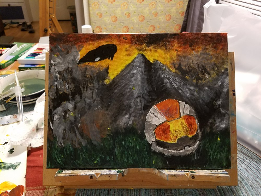 "Justin's finished painting ""Halo Rebels"""