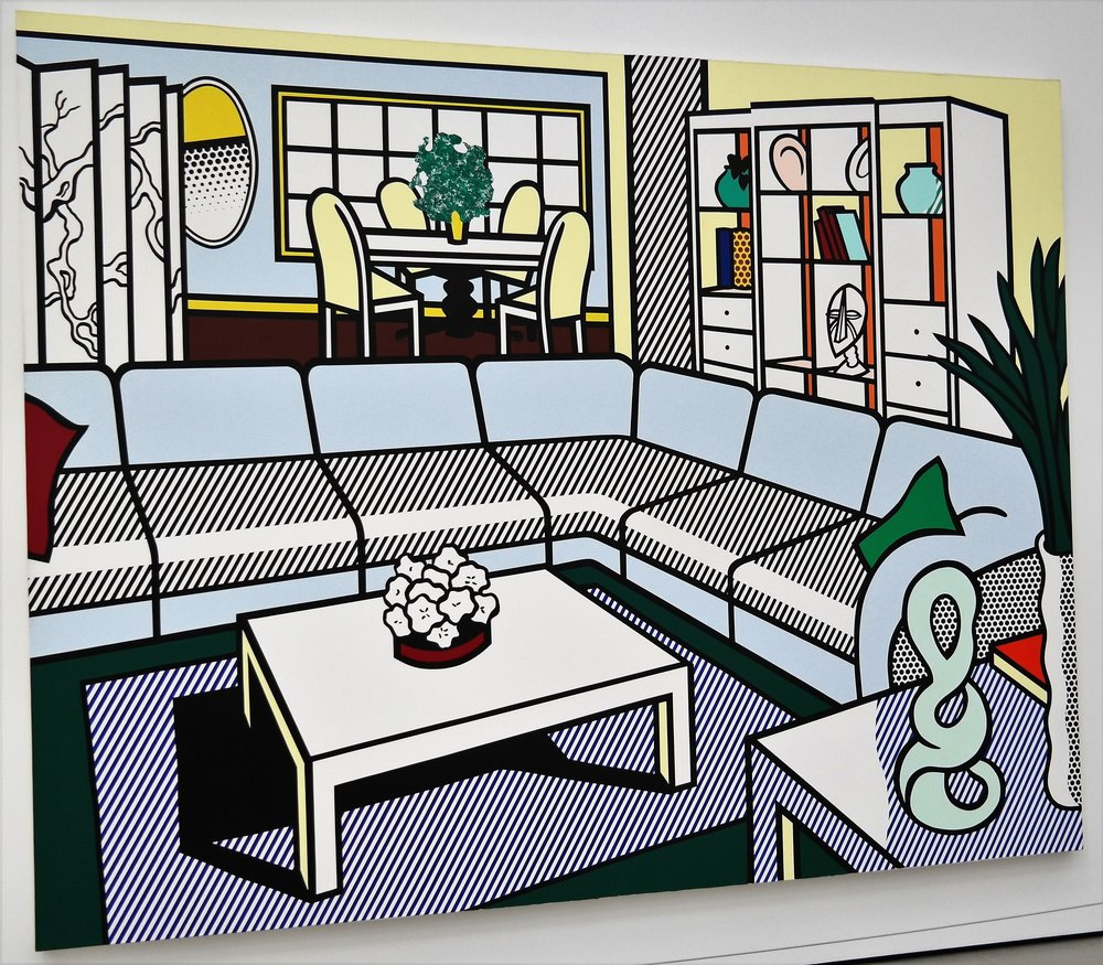Interior with African mask, Roy Lichtenstein, 1991