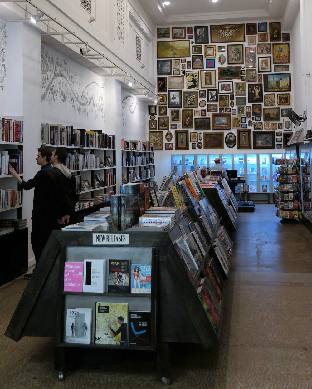 Gallery wall at the Last Bookstore