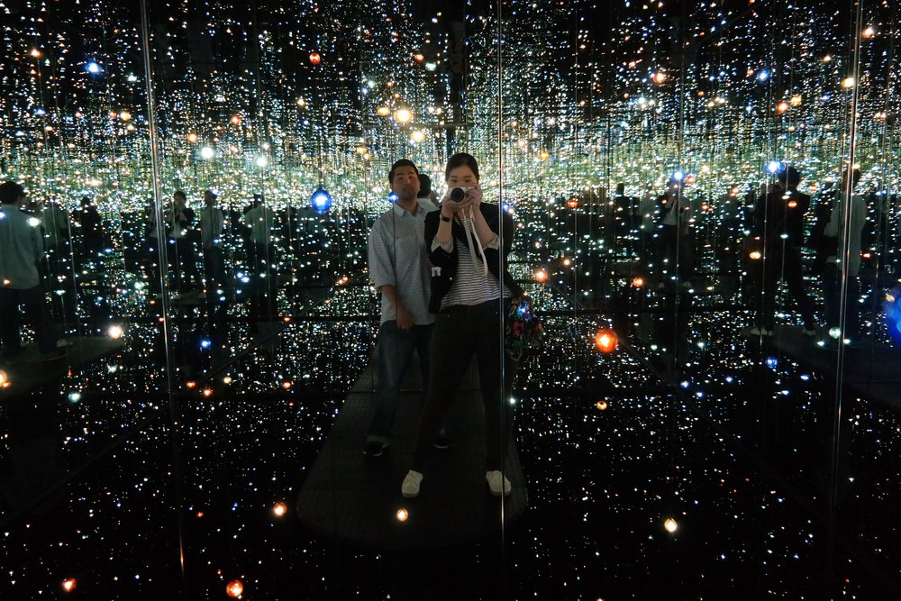 Justin and me in the Infinity Mirrored Room.