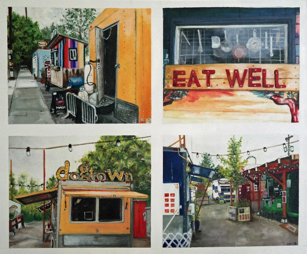 Portland food stalls
