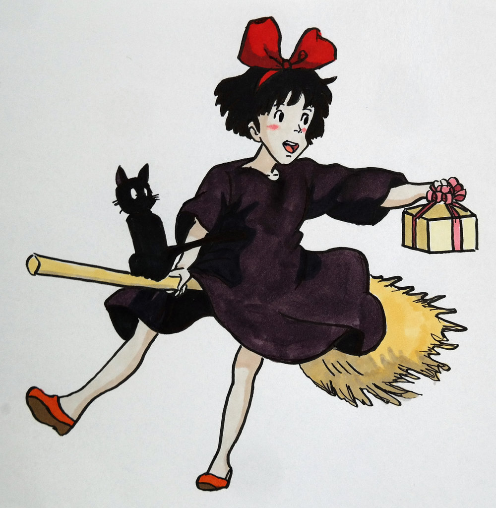 My drawing of Kiki from Kiki's Delivery Service.