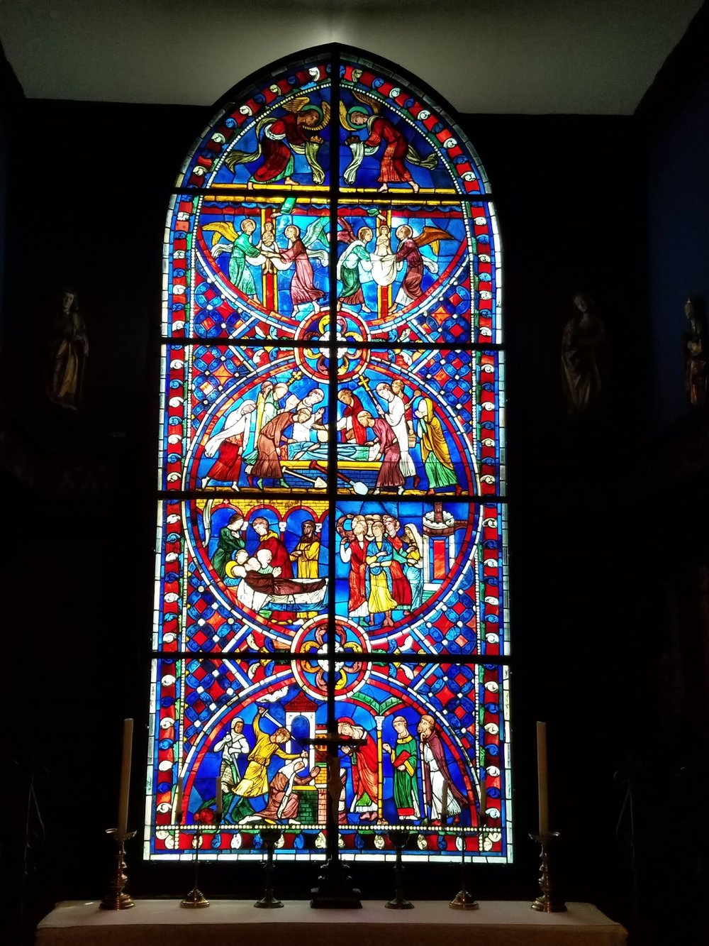 Beautiful stained glass at the Isabella Stewart Gardner Museum in Boston, MA.