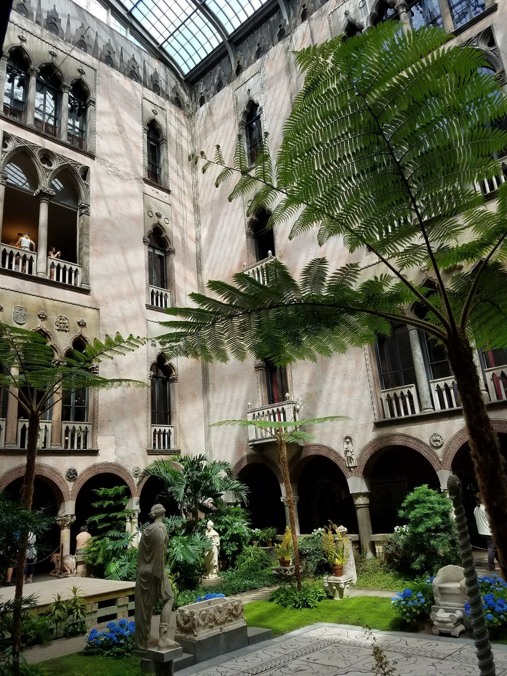 Courtyard in the Isabella Stewart Gardner Museum in Boston, MA.
