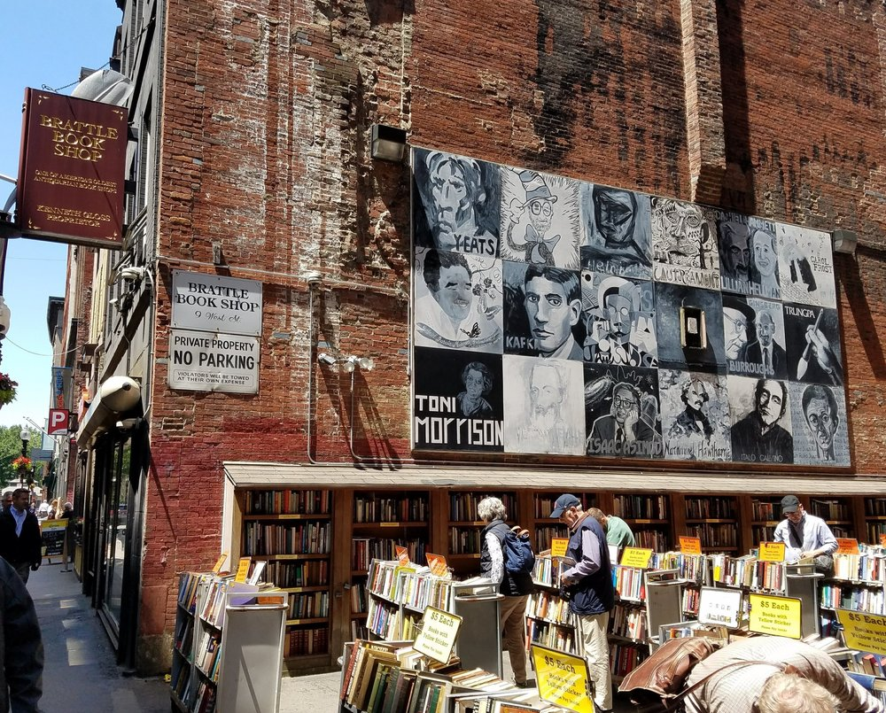 Mural outside Brattle Bookshop in Boston, MA.