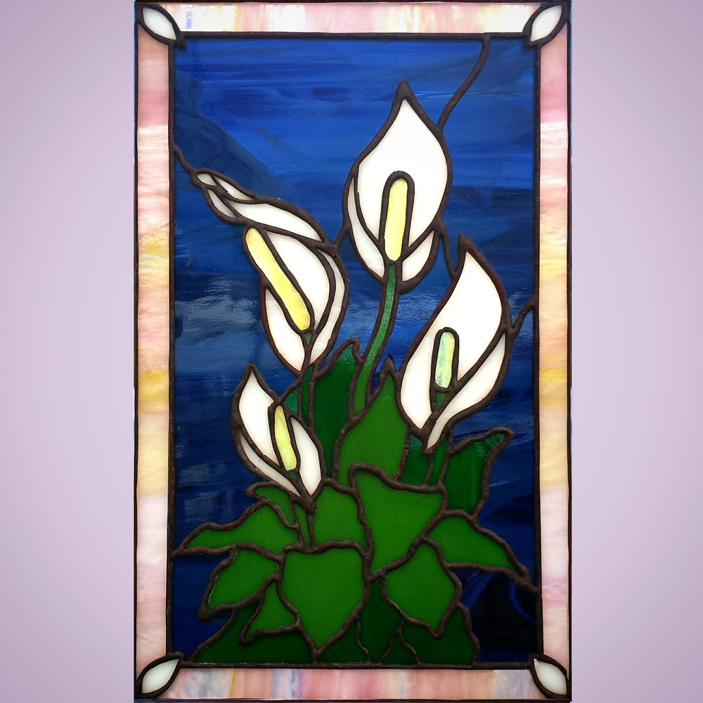 Peace Lily ~ Stained Glass by Colleen Clifford ~ serving Humboldt County and beyond