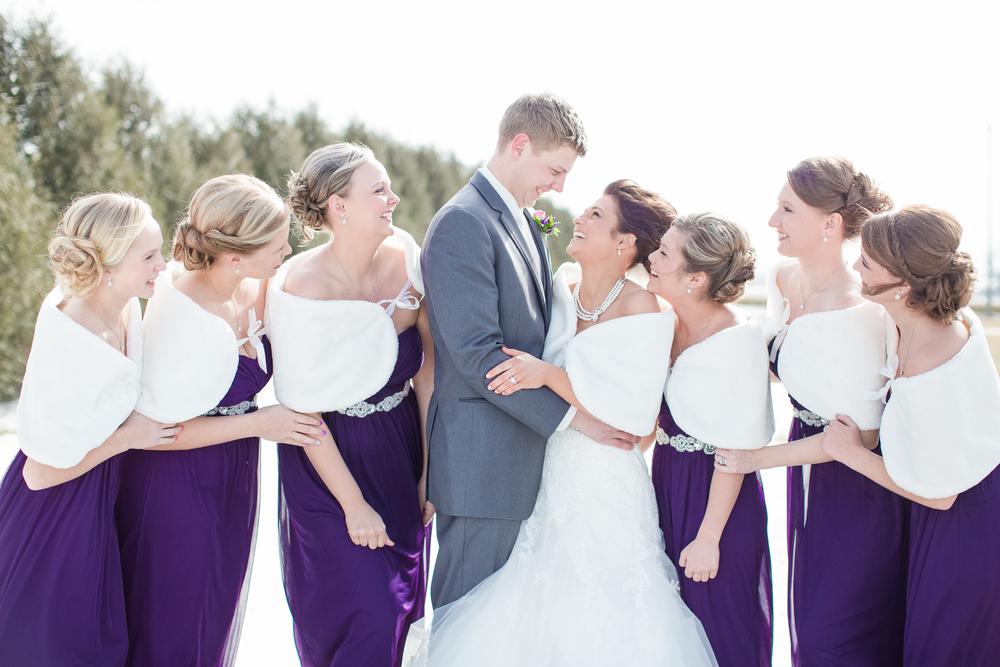 #winterwedding #brideandgroom #bridesmaid