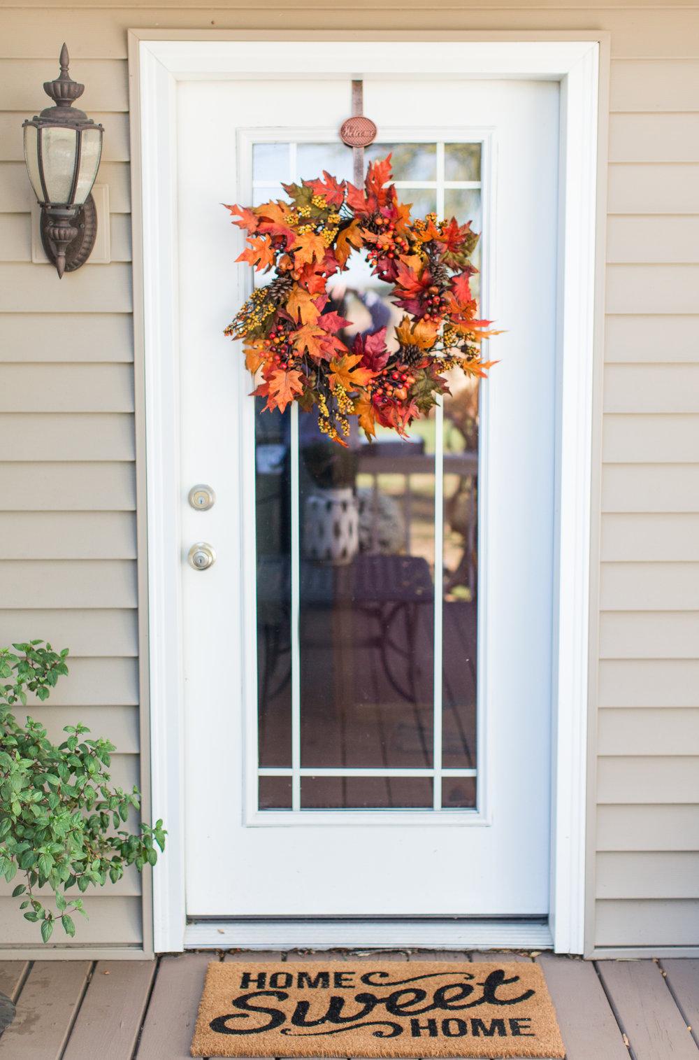 fall | front door | stephanie lynn photography