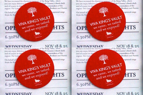 Kings Vault Pop-Up Bar - open for VIP tastings and for general public to meet the winemakers