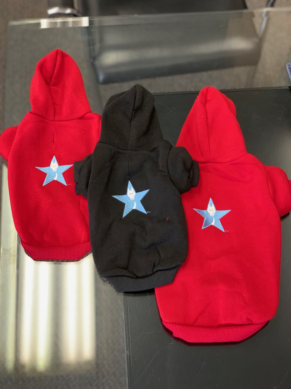 Doggie Sweat jackets - available upon request with training package.