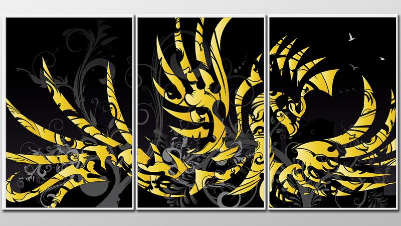 3 Panel Graphic Phoenix