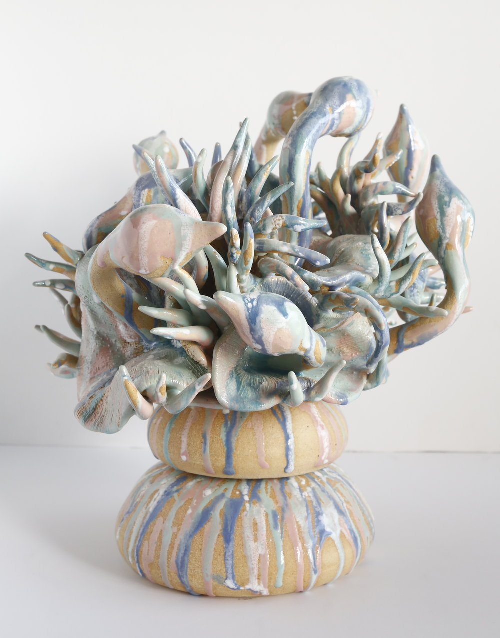 """The Water Cooler""  2015  Stoneware clay and underglaze  SOLD"