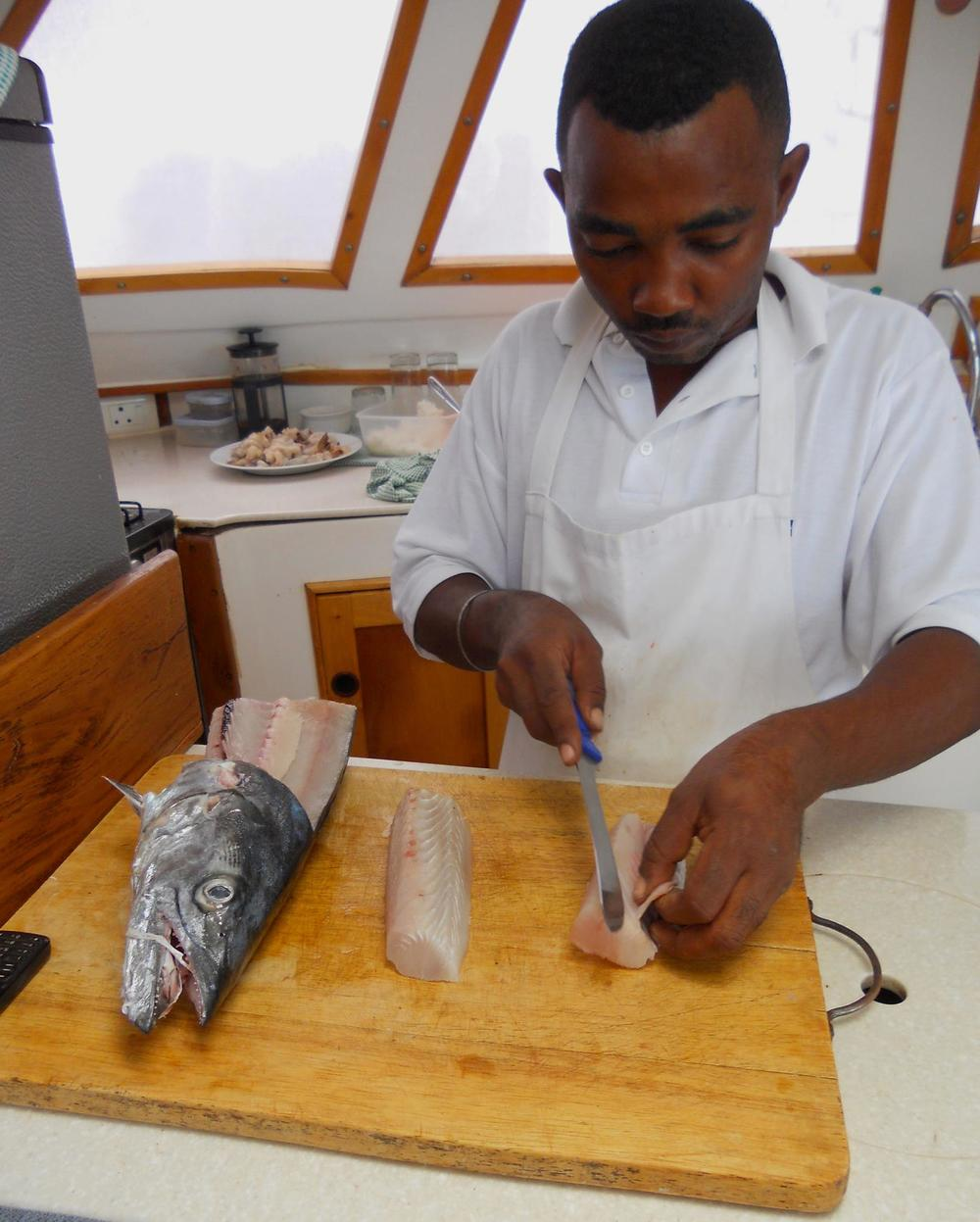 Chef on Board a charter boat