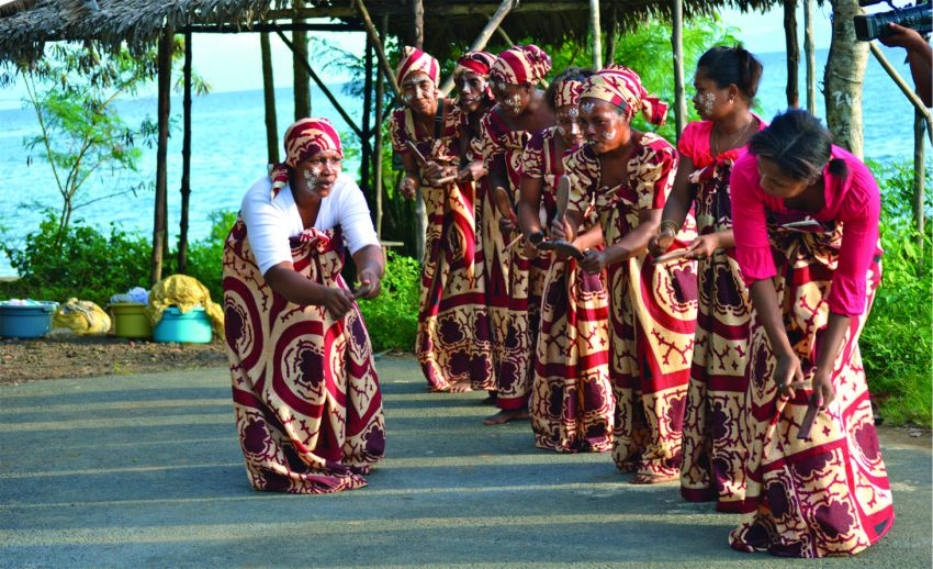Local Womand doing a traditional dance
