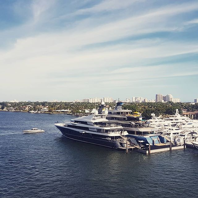 Have you seen this beauties docked at pier 66?  We are already at the third day of @fortlauderdaleintlboatshow. It is aboslutely great to meet with partners and gain US market knowledge!  Have a great day you all 🛥🛥