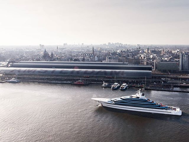 Last Tuesday, Oceanco's extraordinary MY Jubilee made her way through our hometown, Amsterdam. Captured by Superyacht Times, she graciously passed Central Station. It is with absolute joy we experience more and more yachting in and around Amsterdam!  This upcoming week however, it won't be the Exterior/Interior Designers taking the stage and step into the spotlight. Starting February 5 2019, it's time for the Technical Innovators, the AV/ IT specialists, the ones who aim for next level integration to create awe and amazement. It is time for ISE 2019! The largest AV and System Integration Show in the world and we will be there. 📸 Photo credits: Laura Rose Nicholls / @superyachttimes