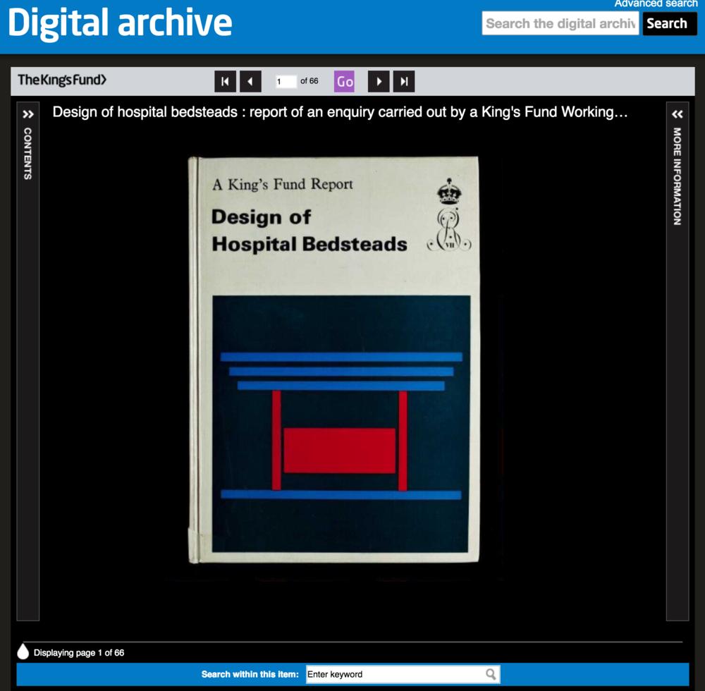 Kings' Fund Digital Archive -