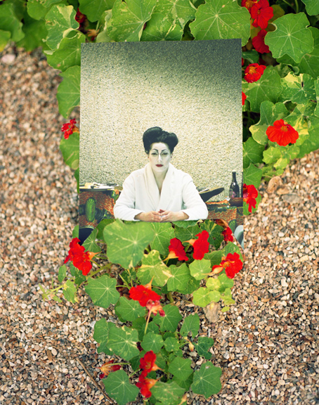 MARINA ABRAMOVIC IN ANTWERP REPHOTOGRAPHED IN GIVERNY 2012