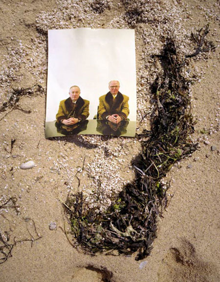 GILBERT AND GEORGE IN NEW YORK REPHOTOGRAPHED IN PROVINCETOWN 2005