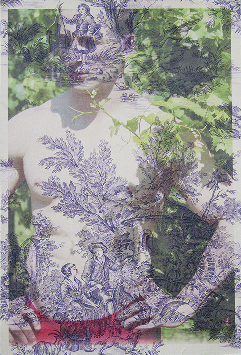 Dan Jalba face and torso Vienna (on purple pastoral toile) 2012