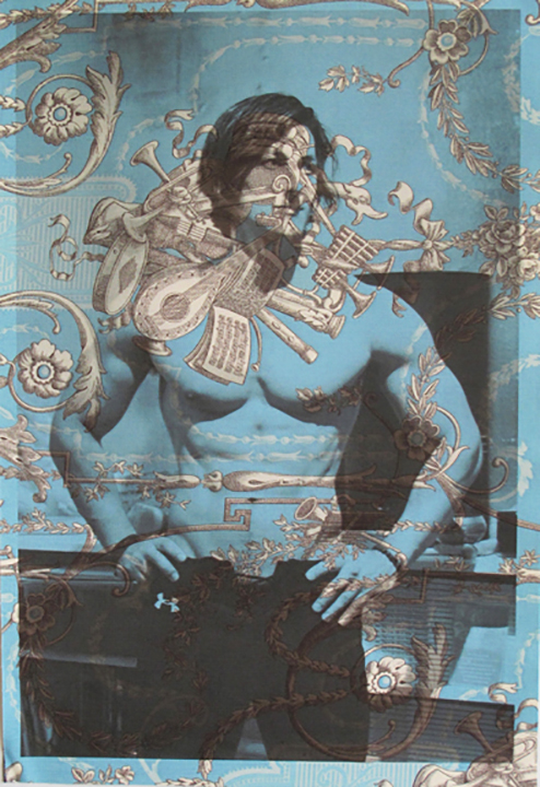 Sadik Hadzovic torso New York (on blue music toile) 2013