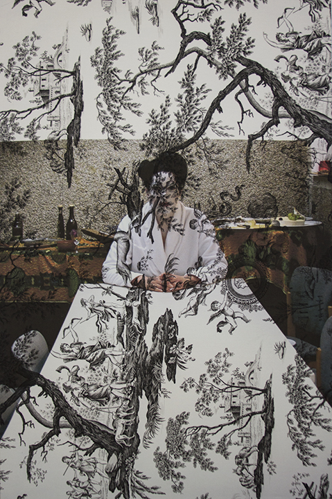 Marina Abramovic backstage Antwerp (on black mythic toile) 2013