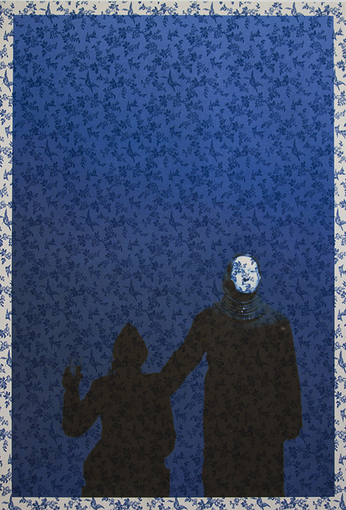 Marina Abramovic & Antony on stage Manchester (on blue bird toile) 2013