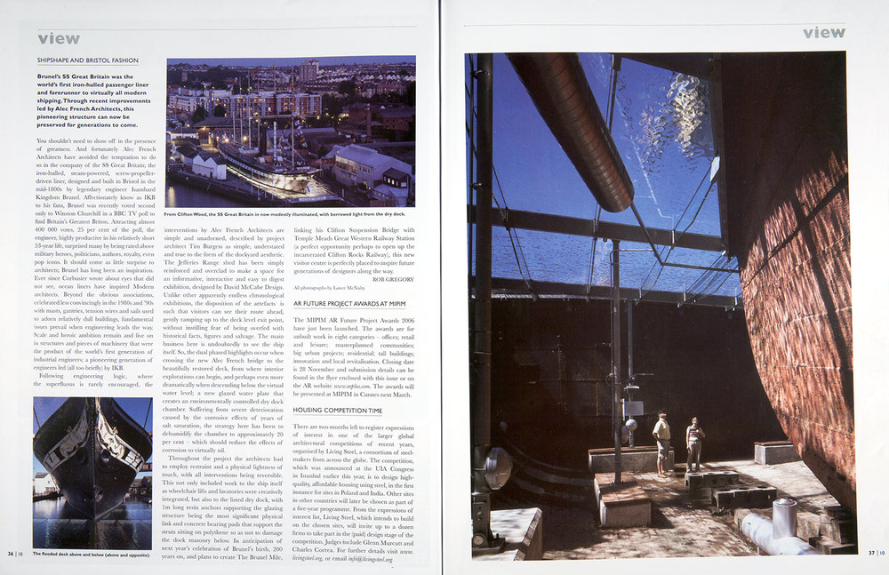 Architectural Review - ss Great Britain Museum