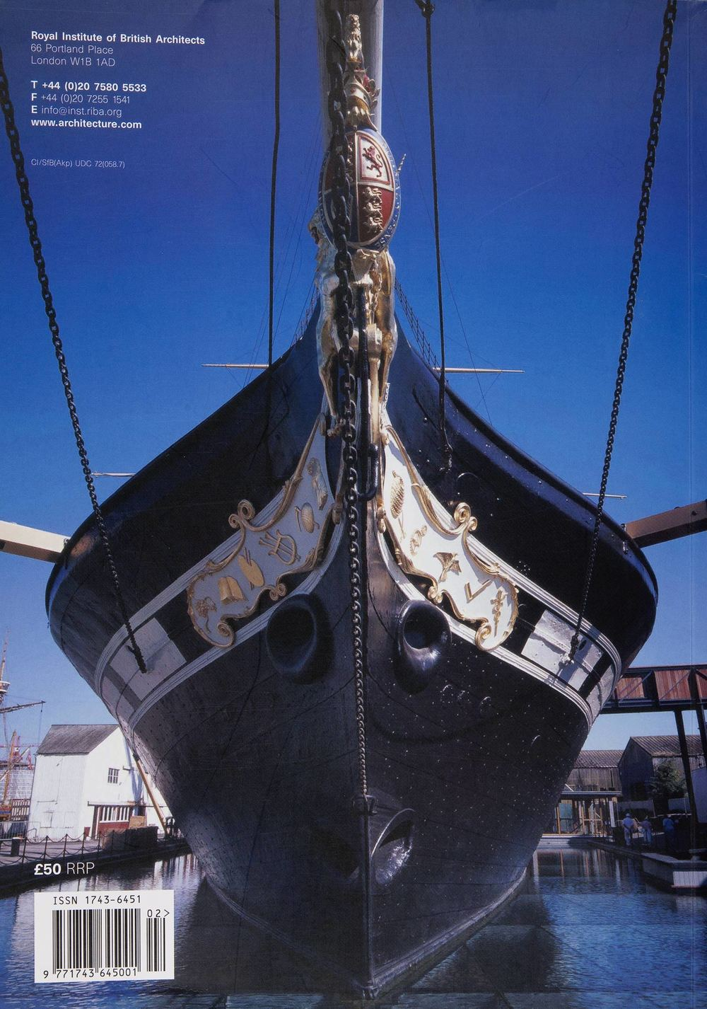 RIBA Conservation Sector Review (rear cover) - ss Great Britain Museum
