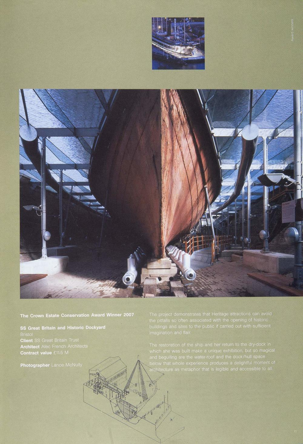 RIBA Conservation Sector Review - ss Great Britain Museum