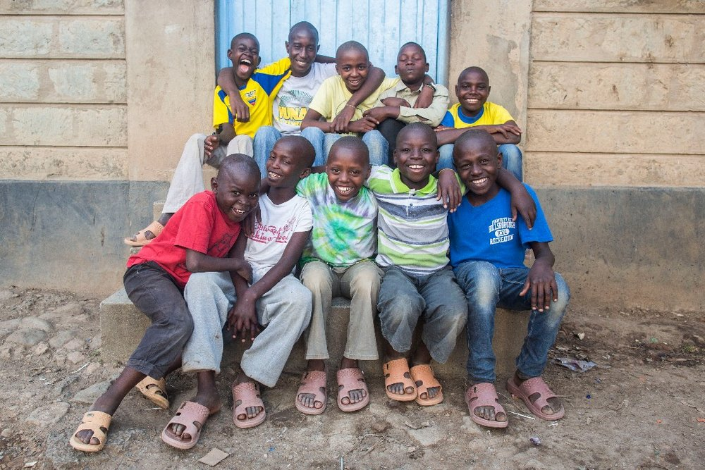 These ten boys were rescued from the streets of Naivasha, where they were sleeping under a shipping container. Now, many of them have been reunited with their families, and are in school for the first time in years!
