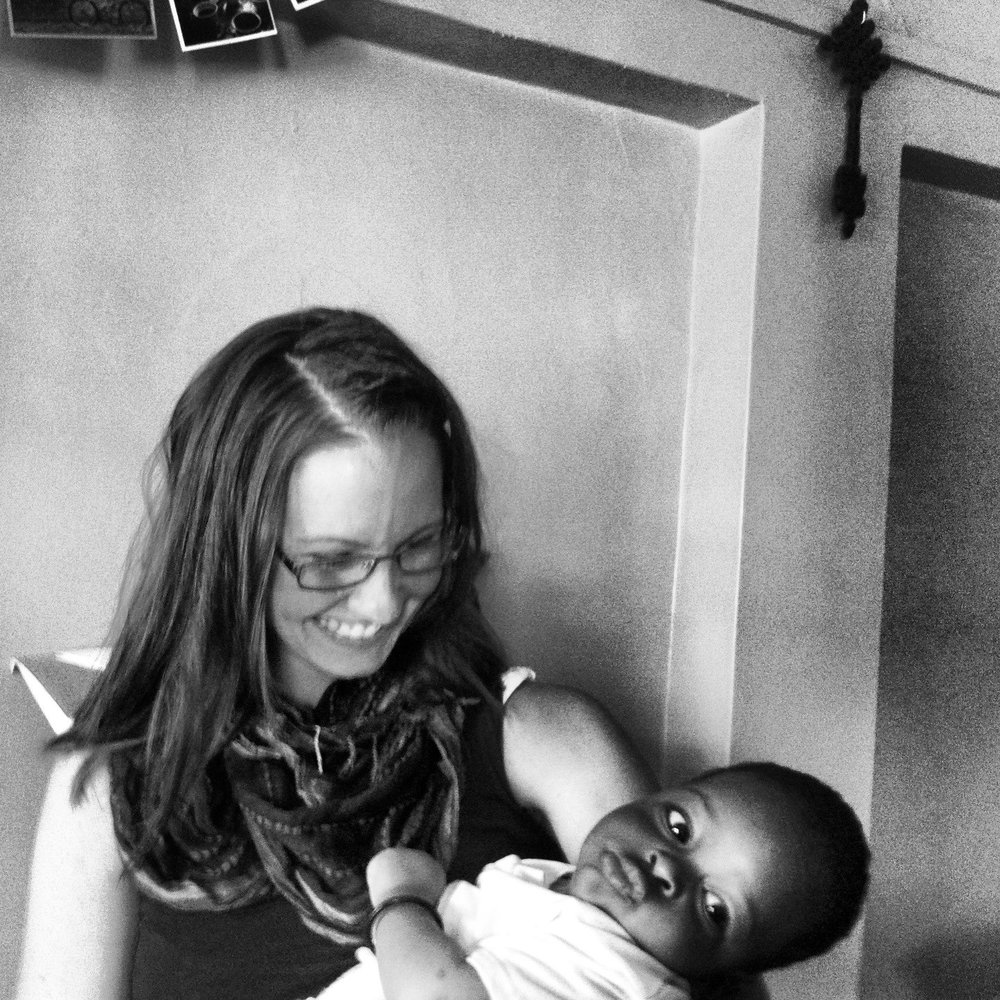 Naivasha Children's Shelter Co-director Kristen Lowry with Bahati at 4 months old.