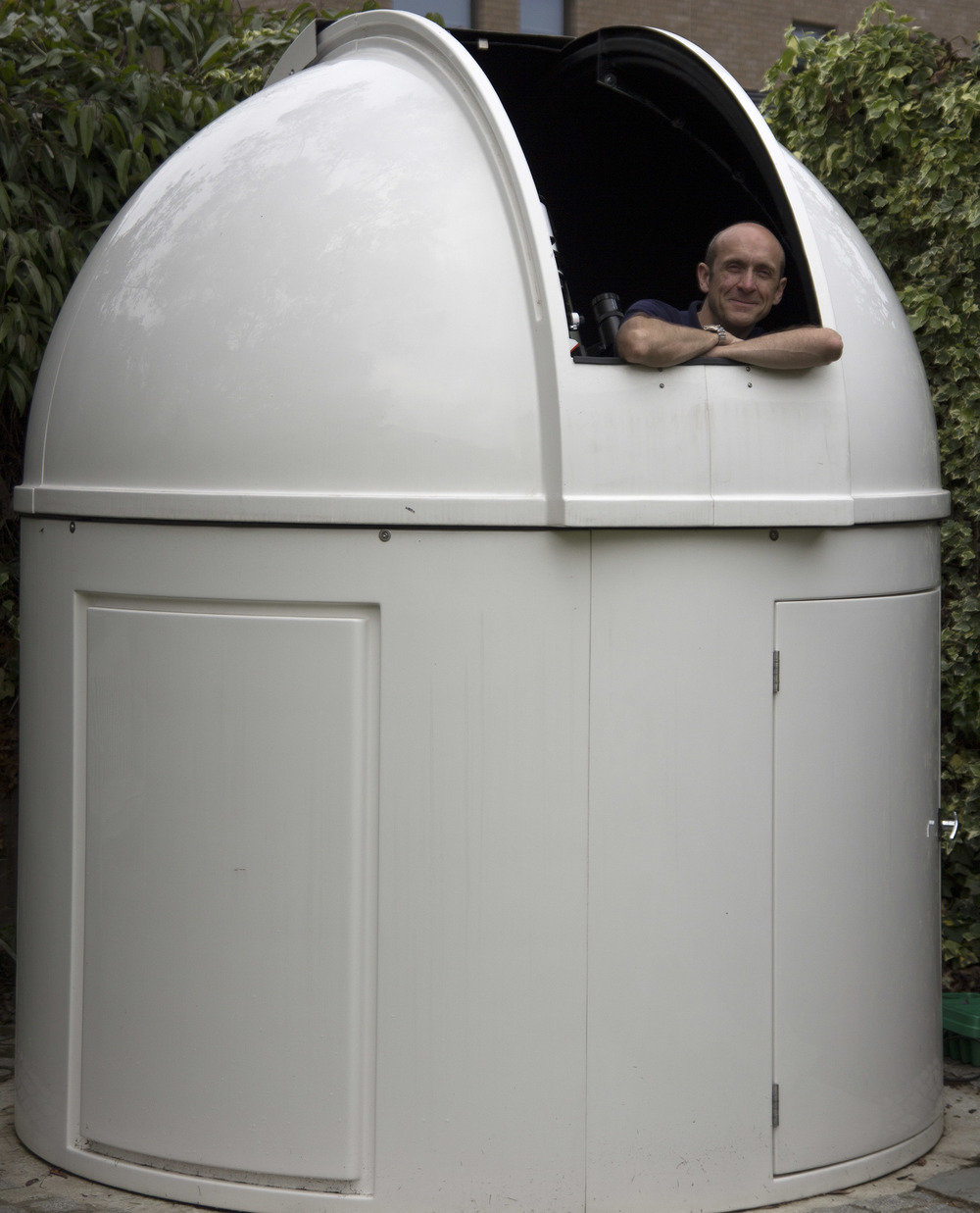 Me in my back garden observatory, Wimbledon June 2016