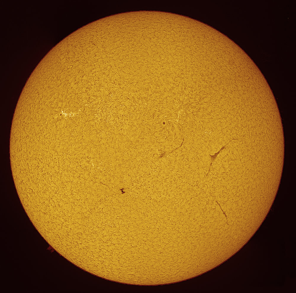 ISS passing in front of the Sun
