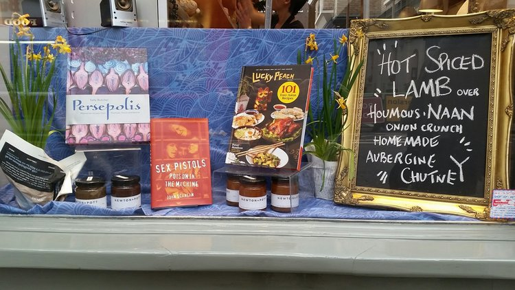 London Review of Books shop window (photo by Howard Trent).