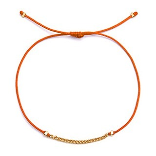 18k gold vermeil mini Cuban link on Orange string bracelet designed for @storm_copenhagen available at the store and online #blackdakini #stormcopenhagen #18kgold #blackdakinibracelet