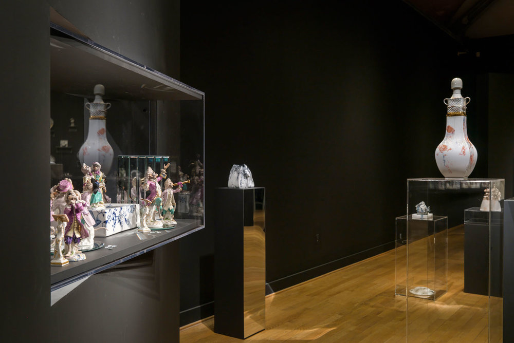 Installation view, Meissen Recast, solo exhibition at RISD Museum, Providence, RI, 2014.