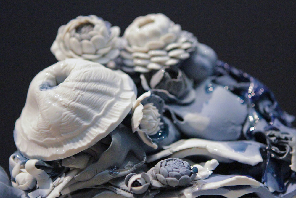detail, Overflow, 2012. Glazed Meissen porcelain. 7 x 8.5 x 6.75 inches.