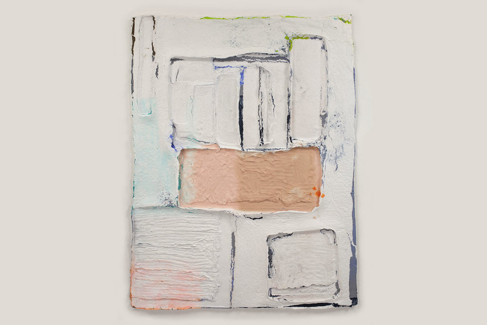 Midriff , 2012. cast pigmented cotton, 40 x 30 in.