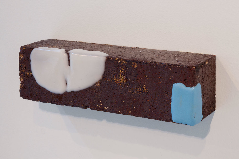 More Than Itself (Fudge) , 2012. glazed kiln brick. 2.5 x 9 x 2.5 in.