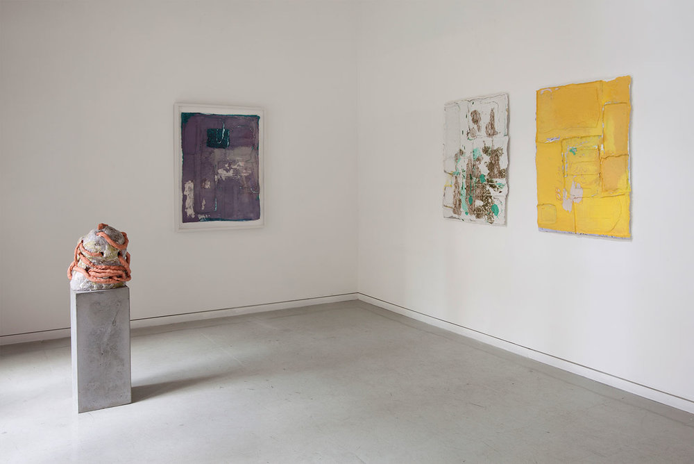 Installation view,  Parallel Play , solo exhibition at Dieu Donne, NY, 2012.