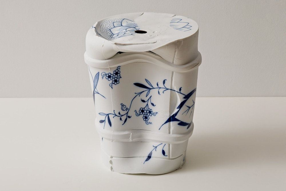 Coffee Pot Vase 29694 Pushed , 2012. glazed Meissen porcelain. 11.75 x 9.88 x 9.88 in.