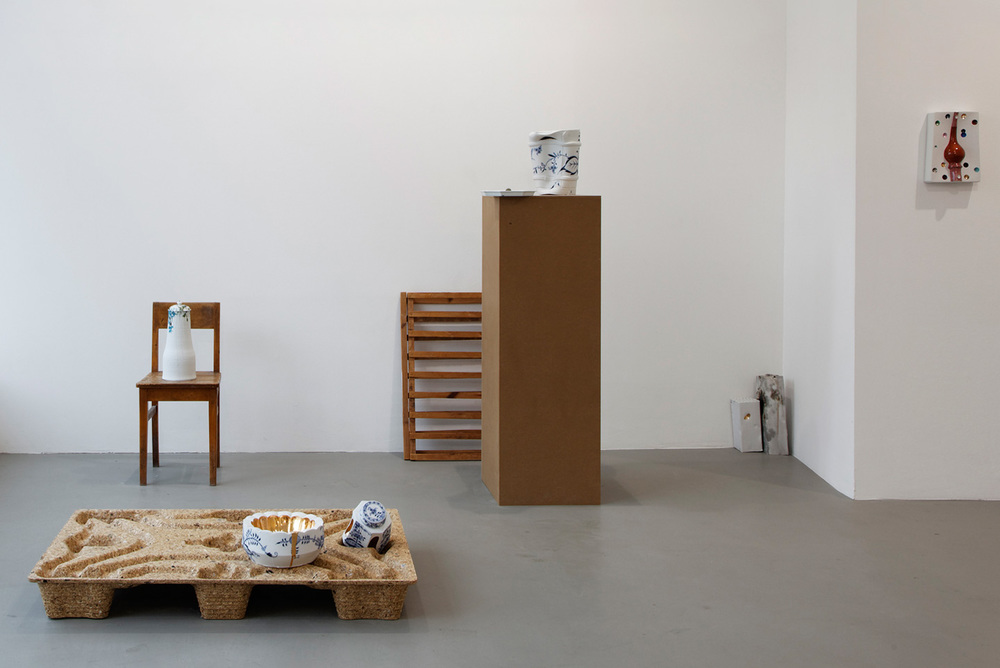 Installation view,  Breaking the Mold , solo exhibition at Nature Morte, Berlin, 2012.