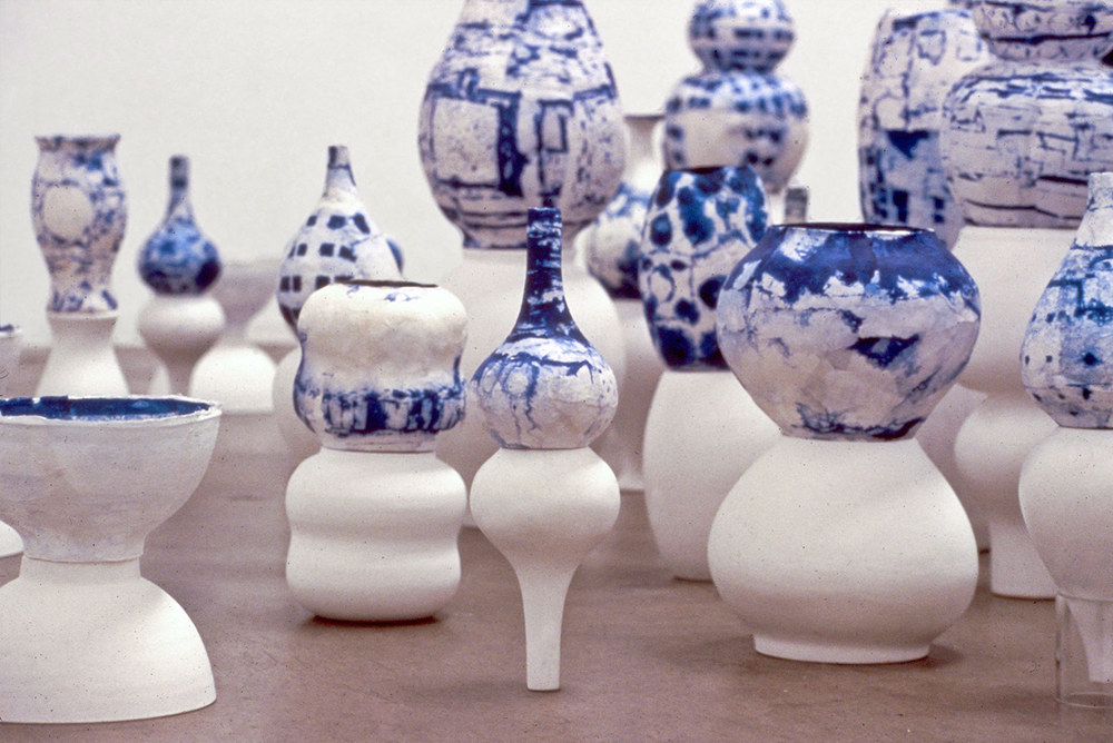 Installation view,  Once Removed  ,  solo exhibition at Shoshana Wayne Gallery, CA, 1998.
