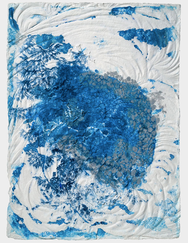 Floating Outside , 2009. cast cotton pulp with pigmented linen pulp. 30 x 22.25 in.