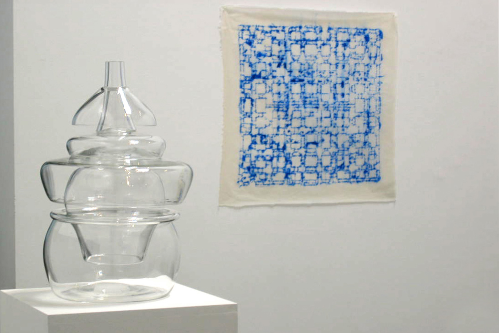 Installation view, Out of the Blue, solo exhibition at Shoshana Wayne Gallery, CA, 2004.