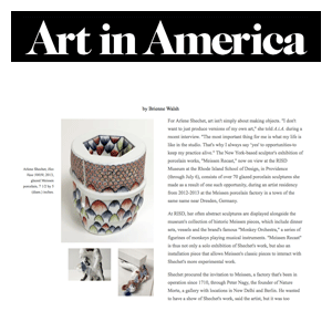 "As an artist-in-residence [at Meissen]...what Shechet was attracted to most, however, wasn't the beautiful porcelain objects so valuable in 19th century that they were called ""white gold."" Instead, she was drawn to the heavy, earth-colored molds used to produce them. - Brienne Walsh Full Article"