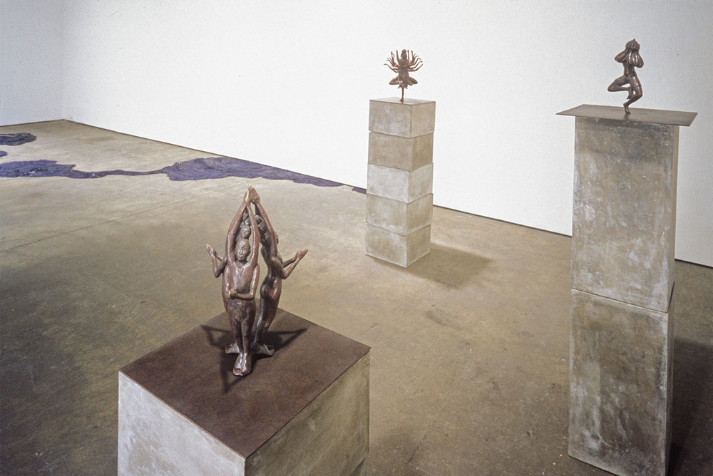 Installation View, Flowers Found, solo exhibition at Elizabeth Harris Gallery, NY, 2002.